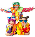 Clowns are making fun Royalty Free Stock Photos
