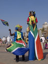 Clowns in South African Flags Royalty Free Stock Photography