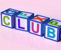 Club blocks mean membership registration meaning and subscription Stock Photos