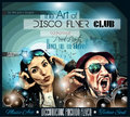 Club Disco Flyer Set with DJs and Colorful backgrounds Royalty Free Stock Photo