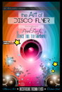Club Disco Flyer Set with Music themed backgrounds Royalty Free Stock Photo