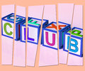 Club letters mean membership registration and subscription meaning Royalty Free Stock Photo