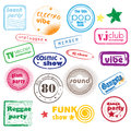 Club music stamps Royalty Free Stock Image