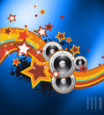 Club party flyer for music event Royalty Free Stock Photo