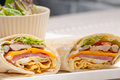 Club sandwich pita bread roll fresh and healthy Stock Image