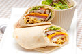 Club sandwich pita bread roll fresh and healthy Stock Photography