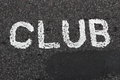 CLUB Written on a Road Royalty Free Stock Images