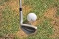 Clube e esfera de golfe Foto de Stock Royalty Free