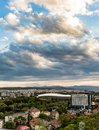 Cluj Napoca city as seen from Cetatuia Hill near by Royalty Free Stock Photo