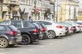 Cluj napoca city a main street in romania Stock Image