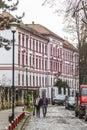 Cluj napoca city a main street in romania Stock Photos