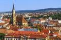 Cluj napoca city overview of romania Stock Photos