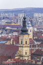 Cluj napoca city overview of romania Royalty Free Stock Images