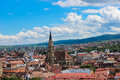 Cluj napoca cityscape a view over the city of romania from a nearby hill in the center saint michael s church Royalty Free Stock Photos