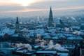 Cluj-Napoca skyline in the morning Royalty Free Stock Photo
