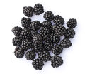 Cluster of  Blackberries on White Background Royalty Free Stock Photo