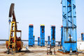 Cluster oil well Stock Photography