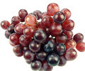 Cluster red grapes white background Stock Photography
