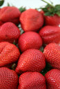 Cluster of Ripe Strawberries Stock Photography