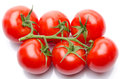 Cluster tomatoes isolated on white Stock Images