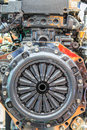 Clutch disc of car engine Royalty Free Stock Images