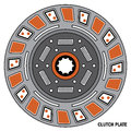Clutch Disc - vector isolated Royalty Free Stock Photo