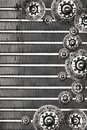 Clutch plate & radiator background Stock Photography