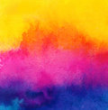 Cmky watercolor paint background  texture detail Royalty Free Stock Photo