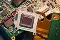 Cmos sensor close up of a camera Stock Photos
