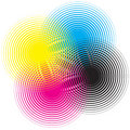 Cmyk circle Royalty Free Stock Image