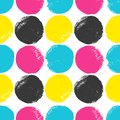 Cmyk circles pattern grunge in colors Royalty Free Stock Photography