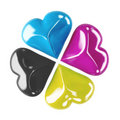 Cmyk clover Royalty Free Stock Photo