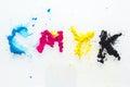 CMYK colour toner for printer cyan magenta yellow