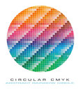 CMYK colours palette for Abstract Background Royalty Free Stock Photography