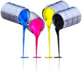 Cmyk d rendering of a color concept Stock Photo