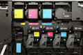 CMYK ink cartridges for laser copier machine Royalty Free Stock Photo