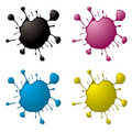 Cmyk ink splat Royalty Free Stock Photo
