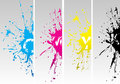 Cmyk new splat Stock Photography