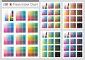 CMYK Press Color Chart Royalty Free Stock Photo