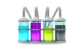 Cmyk print cartridge Stock Images