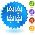 CMYK Printing Royalty Free Stock Photo