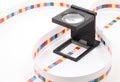CMYK printing color bar. Royalty Free Stock Photo