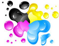 Cmyk spill Royalty Free Stock Images