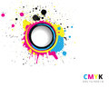 CMYK splash background Royalty Free Stock Photos