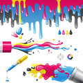 CMYK splashes Royalty Free Stock Image