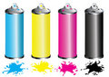 CMYK Spray can Royalty Free Stock Image