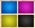 Cmyk textured papers Stock Photography