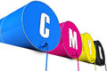 Cmyk tons high resolution d rendering of Royalty Free Stock Image