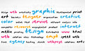 Cmyk Word Cloud Royalty Free Stock Photos