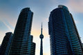 CN Tower Between Two Condominiums Royalty Free Stock Images